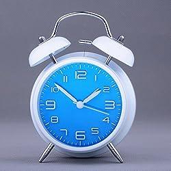 HOMEE Clock-simple stereo alarm clock luminous double bell alarm clock,E