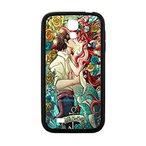 Happy The little mermaid Case Cover For samsung galaxy S4 Case