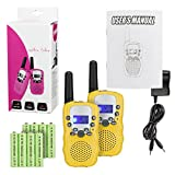 Amazon Price History for:Kids Walkie Talkies with Rechargeable Battery , 22 Channel FRS/GMRS Two Way Radio Up to3KM UHF Handheld Walkie Talkies for Children (1 Pair) (Yellow)