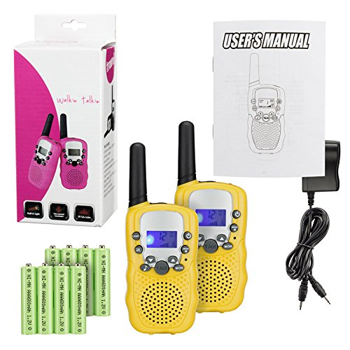 Find Discount Kids Walkie Talkies with Rechargeable Battery , 22 Channel FRS/GMRS Two Way Radio Up t...
