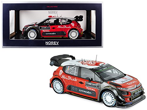 Citroen C3 WRC Rally 2017 Official Presentation Version 1/18 Diecast Model Car by Norev 181630