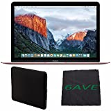 "Apple 12"" MacBook (Rose Gold) MMGL2LL/A + Padded Case For Macbook + MicroFiber Cloth Bundle"