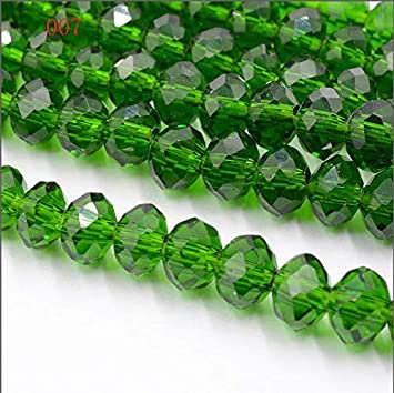 Wholesale 70Pcs Glass Crystal Round Loose Spacer Beads DIY Jewelry Making 8mm