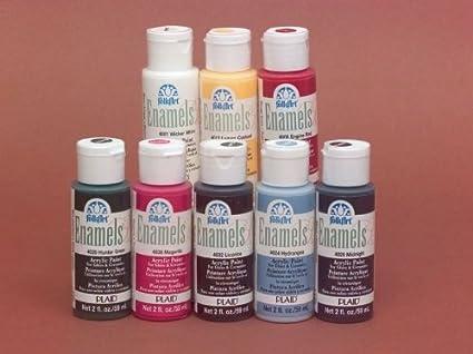 Amazon Com Folk Art Non Toxic Water Based Enamel Paint Set