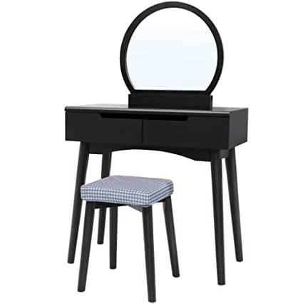 Amazon Com Gw Dressing Table Set With Stool And Mirror Makeup Desk