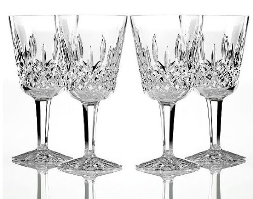 Boxed Set of 4 Waterford Crystal Lismore Goblet 10oz Wine Glasses