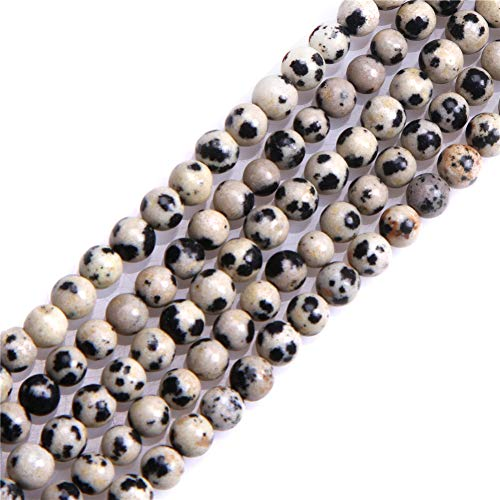 - Dalmatian Dalmation Jasper Beads for Jewelry Making Natural Gemstone Semi Precious 4mm Round 15