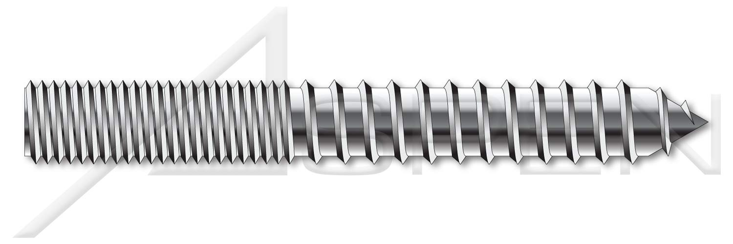 Hanger Bolts 1//4-20 X 3-1//2 Full Thread 18-8 100 pcs AISI 304 Stainless Steel