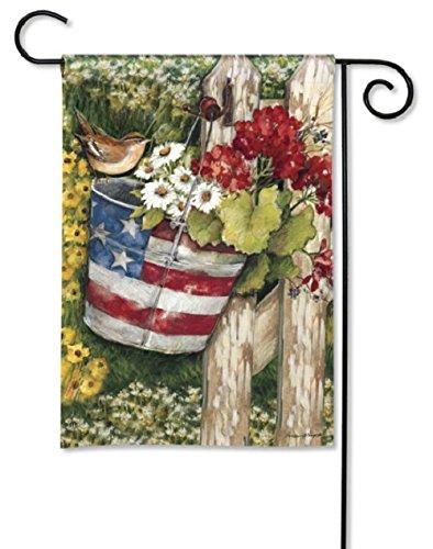 Magnet Works Patriotic Pail Garden Flag, 32039