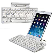 Cooper Cases(TM) K2000 Samsung Galaxy Tab 2 7.0 (P3100 / P3110 /LTE I705) Bluetooth Keyboard Dock in White (US English QWERTY Keyboard, Built-in Viewing Stand, Android / iOS / Windows compatible)