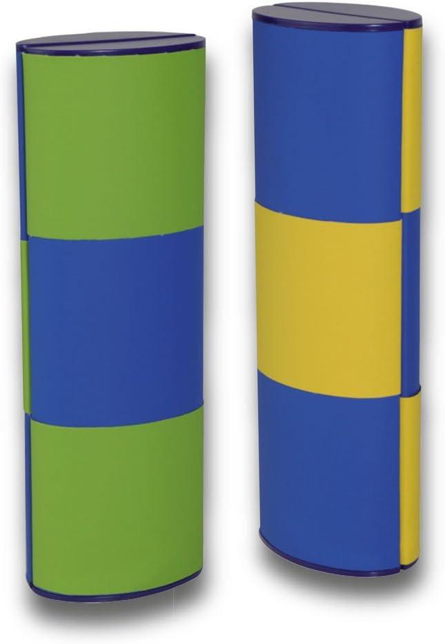 Zauberetui Brillenetui LOGIC MEDIUM LANG BICOLOR 14115 mit Farbwechsel in schwarz-hellgr/ün//schwarz-dunkelgr/ün 180 Grad drehbar