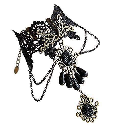 Eternity J. Elegant Vintage Princess Lace Gothic Victorian Lolita Ring Bracelet Costume Jewelry (Bracelet-2)