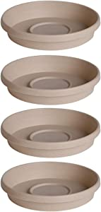 Bloem Terra Plant Saucer Tray 6 Inch Taupe (Pack of 4)