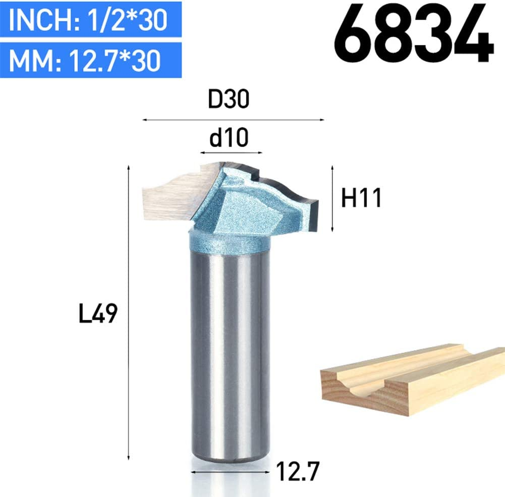 HUHAO 1//4 Shank 30mm cutting diameter router bit Drawer and Cabinet Door Front Edging Classical Router Bit