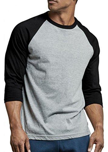 Men's Cotton 3/4 Sleeve Baseball Raglan Tee Shirt – DiZiSports Store