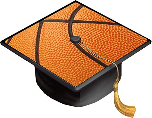 Basketball Basket Ball Basketball Background Grad Cap Decal - Vinyl Sticker Skin for Graduation Caps]()