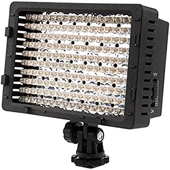Neewer CN-160 LED Dimmable Ultra High Power Panel Video Light Kit: CN-160 LED Light,(2)2600 mAh Battery, USB Battery Charger and Carrying Case for Canon, Nikon, Pentax, Sony DSLR Cameras,DV Camcorders