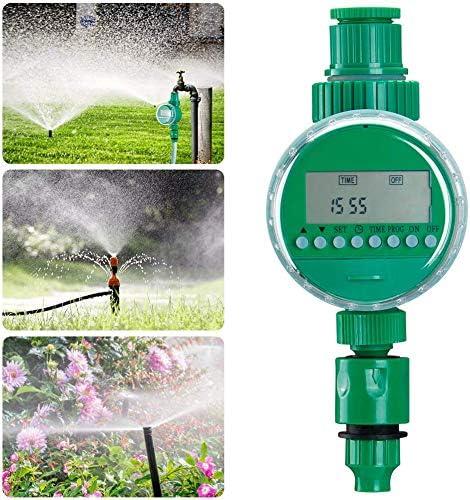 YMJJ Bewässerungstimer, Automatischer Bewässerungstimer Elektrischer Timer, Wasserdichtes LED-Display Für Gartenpflanzen