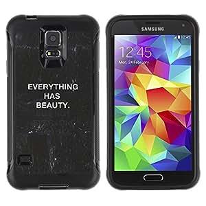 "Pulsar iFace Series Tpu silicona Carcasa Funda Case para Samsung Galaxy S5 V , Cita pizarra Negro Blanco Texto"""
