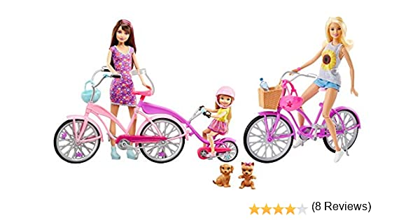 Amazon.es: Barbie - Hermanas Camping Fun Bicicleta Ciclo Conjunto ...