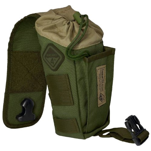 HAZARD 4 Flip Bottle/Magazine Draw String Pouch with Molle, OD Green