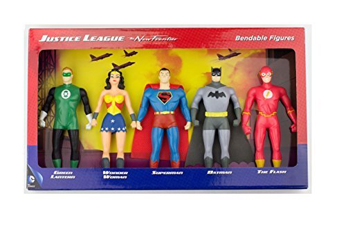 Stretchy Super Heroes (DC Comics Justice League New Frontier Bendable Action Figures Superhero)