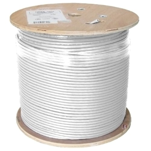 Vertical Cable Cat6A 10G, UTP, 23AWG, Solid Bare Copper, PVC, 1000ft, White, Bulk Ethernet Cable