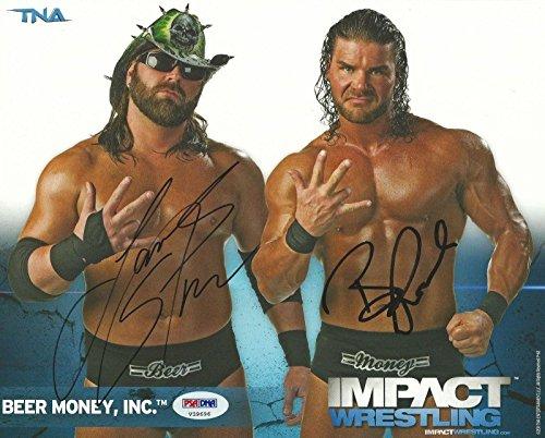 Storm Signed Beer Money Inc TNA 8x10 Promo Photo COA - PSA/DNA Certified - Autographed Wrestling Photos ()