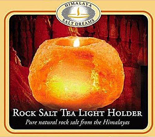 Himalayan Salt Tea Light Holder - 1 Candle by Aloha Bay ()