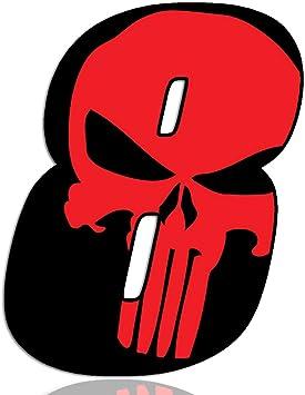 Biomar Labs® Número 8 Punisher Calavera Vinilo Adhesivo Pegatina Coche Auto Motocross Moto Sport Start Racing Tuning N 358: Amazon.es: Coche y moto