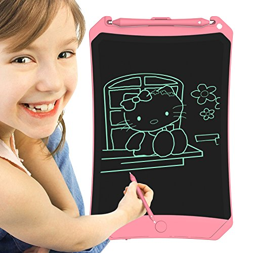 SCS ETC 8.5 Inches LCD Writing Tablet - Portable Electronic Writing Drawing Board Doodle Pads with Stylus for School, Outdoors Painting, Home & Office Great Gifts for Kids by SCS ETC