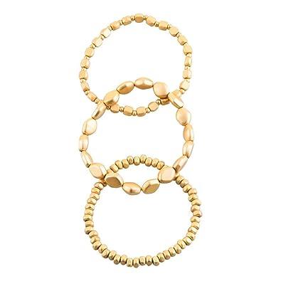 0de3ed2bfba4 LuckyLy – Pulseras Mujer – Pulseras Francine Oro – Piedras y Chaquiras  Delicadas – Color Oro