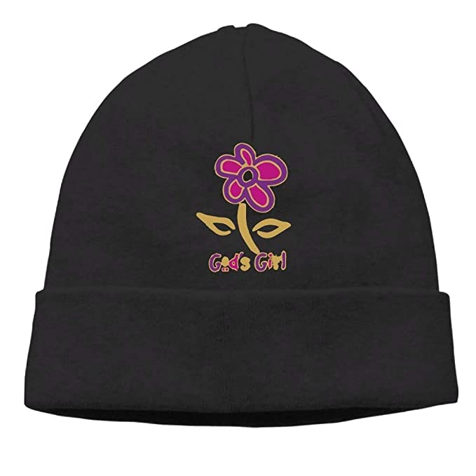 236a42305fc Kyliel Soft Beanies Cap-Gods Girl Flower Travel Black Beanie Hat Cap Unisex  Warm Knitted Hat  Amazon.ca  Clothing   Accessories