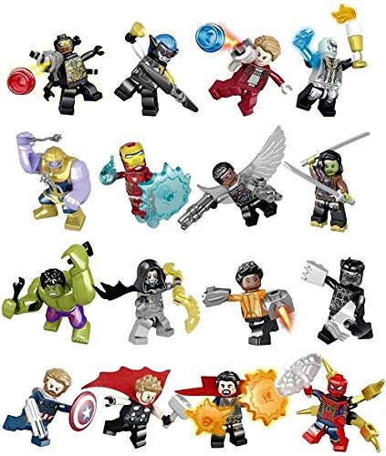Kids Gift 0316 8 Pieces Minifigures Super Heroes Set Building Blocks Action Figures Toy