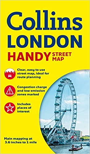 Easy London Map.Collins Handy Street Map London Collins Maps 9780008136642 Books