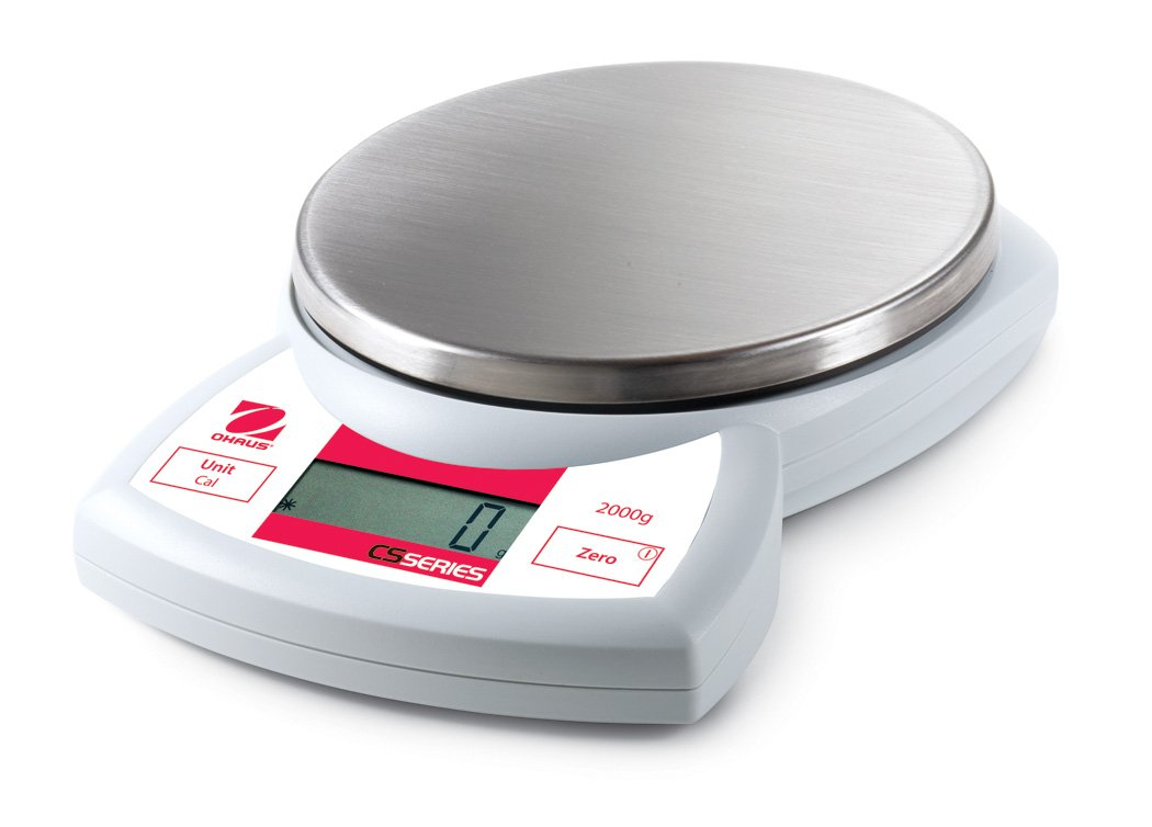 Ohaus 72212664 CS2000 Compact Scale, 2000g Capacity and 1g Readability