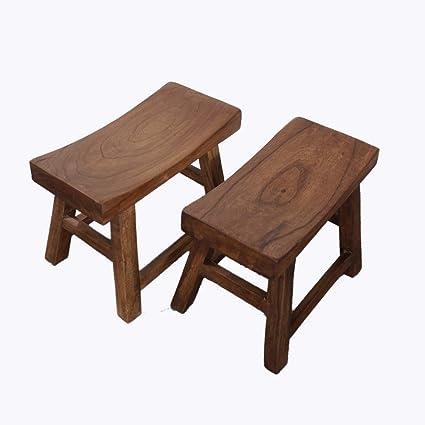 Sensational Amazon Com Wooden Stool Retro Non Slip Mute Four Legged Ibusinesslaw Wood Chair Design Ideas Ibusinesslaworg