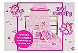 Bed Canopy - Pink Hawaiian Flower