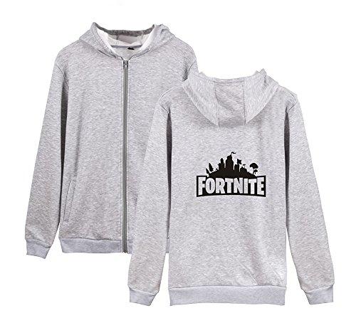 Fortnite Felpa Outwear E Uomini Zip Grey2 Sweatshirts Aivosen Con Invernale Per Casual Pile Cappotto Allentato Unisex Donne BEqXn5