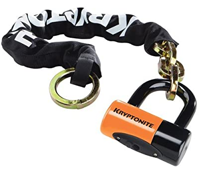 Kryptonite New York Noose 1275 Bicycle Chain Bike Lock with Evolution Series-4 Disc Lock