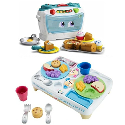 LeapFrog Number Lovin' Oven, Laugh & Learn Say Please Snack Set, Toddler Table Manners, Play Food Set, Musical, Development, Preschool, Educational Musical Toys, Learning Number, Pretend Play