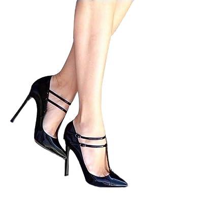 089a76b83e9c8 Amazon.com: ODOKAY Elegant Sandals for Women Double Buckle Design ...