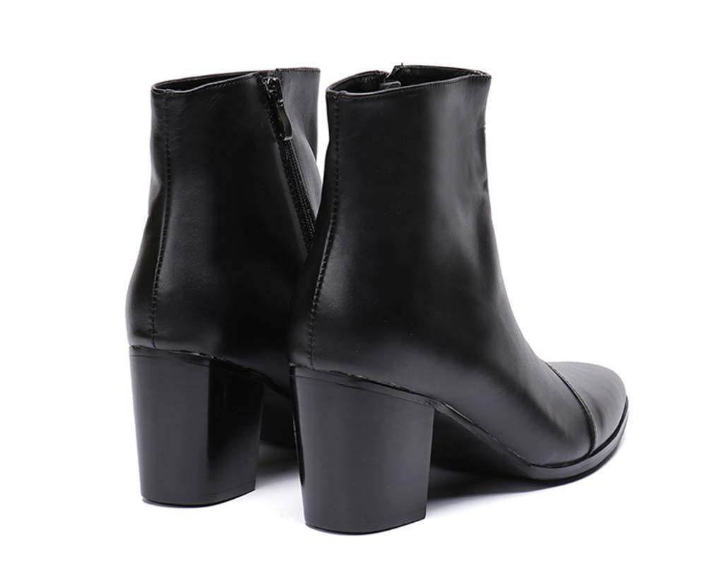 GLSHI Männer Leder Spitz Stiefeletten Herbst Winter High-Top-Schuhe Low Low Low Top Britische Stiefel Martin Stiefel Business Kleid Stiefel ba10c1