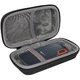 co2crea Hard Travel Case for SanDisk 250GB / 500GB / 1TB Extreme Portable SSD SDSSDE60 (Black Case)