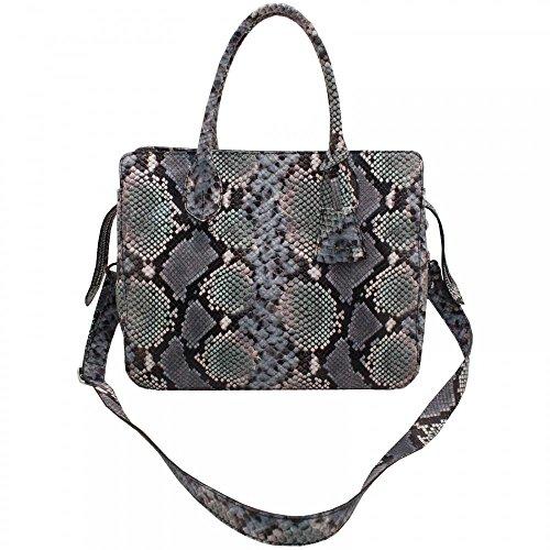Skin Abro Tote Grab Effect Tote Abro Grab Blue Tote Handle Handbag Handbag Handle Effect Abro Blue Skin PxqAHg