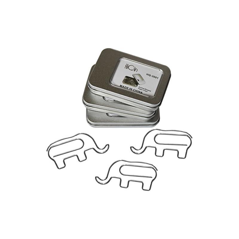 Fun Elephant Paper Clips (3 Boxes) - Cut