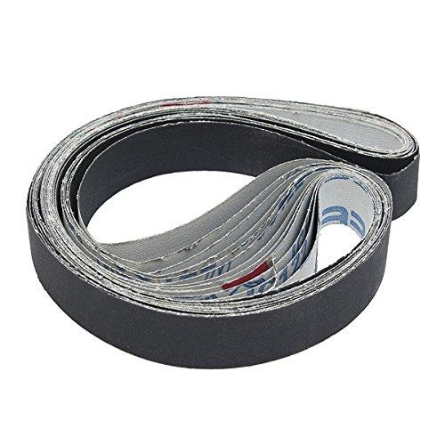 Letbo New 12Pcs 1x30 Inch Sanding Belts Silicon Carbide 400/600/800/1000 Grits Abrasive Sanding Belts Lbg
