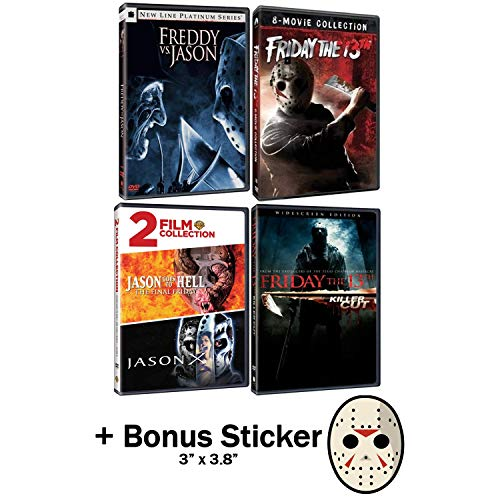 Friday the 13th: Complete Jason Horror Series DVD Collection -12 Movies + Bonus Sticker!]()