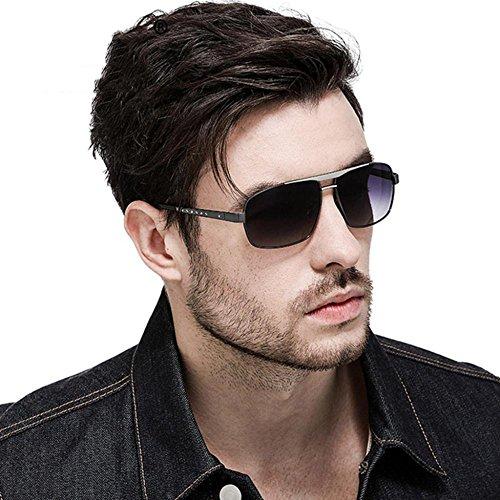 Aoligei Double-couleur masculine de galvanoplastie polarisant lunettes de soleil conduite lunettes miroir conducteur lunettes de soleil f0JLiDkT