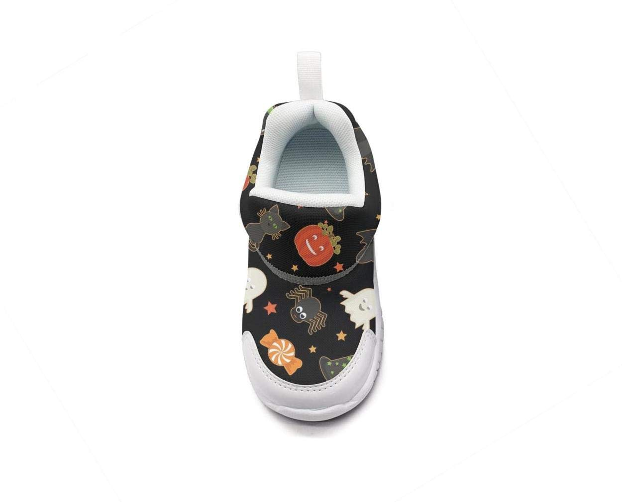 ONEYUAN Children Halloween Candy Skull cat Pumpkin Black Kid Casual Lightweight Sport Shoes Sneakers Walking Athletic Shoes